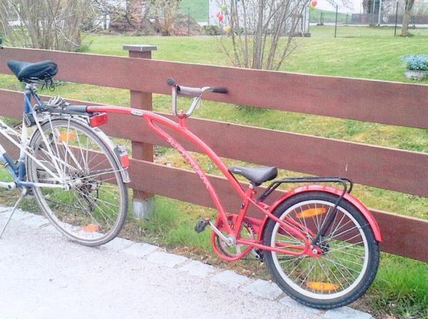 wir bieten einen einrad fahrrad anh nger vom typ adams. Black Bedroom Furniture Sets. Home Design Ideas