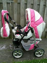 Kombi Kinderwagen pink/