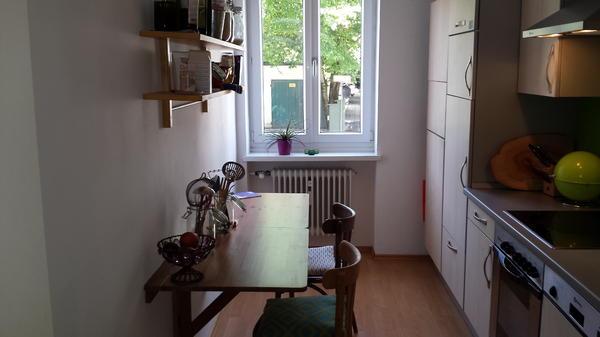 k che mit ger ten und wandklapptisch in m nchen k chenzeilen anbauk chen kaufen und verkaufen. Black Bedroom Furniture Sets. Home Design Ideas