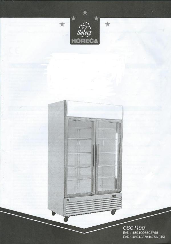 k hlschrank von der marke select horeca gsc1100. Black Bedroom Furniture Sets. Home Design Ideas