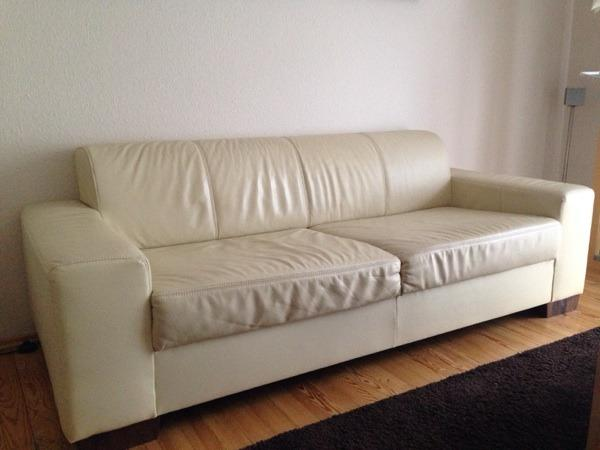 ledersofa beige in m nchen kaufen und verkaufen ber. Black Bedroom Furniture Sets. Home Design Ideas