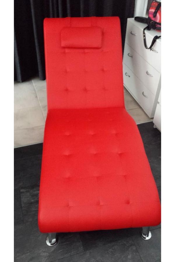 liege w neu wellnessliege relaxliege rot kunstleder. Black Bedroom Furniture Sets. Home Design Ideas