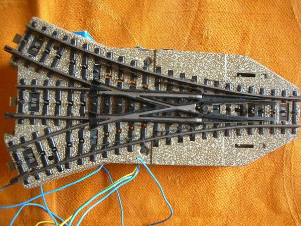 m rklin 5214 elektromagnetische drei wege weiche m gleise 180mm in berlin modelleisenbahnen. Black Bedroom Furniture Sets. Home Design Ideas