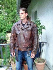 Motorradjacke Leder. Top!!!
