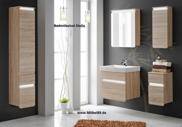 neu badm belset badm bel stella 60 cm mit waschbecken led. Black Bedroom Furniture Sets. Home Design Ideas