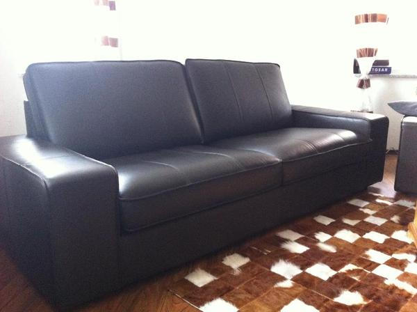 neu ikea kivik leder couch nur heute in meckenheim ikea m bel kaufen und verkaufen ber. Black Bedroom Furniture Sets. Home Design Ideas