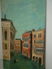 Ölbild Venedig: Häuserflucht