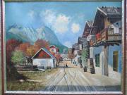 Ölgemälde, Garmisch Frühlingstraße