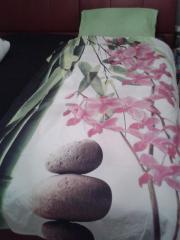 Orchideen-Bettwäschengarnitur und