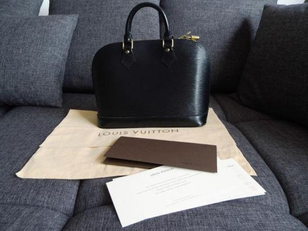 original louis vuitton alma epi leder schwarz gold handtasche bag henkeltasche in dortmund. Black Bedroom Furniture Sets. Home Design Ideas