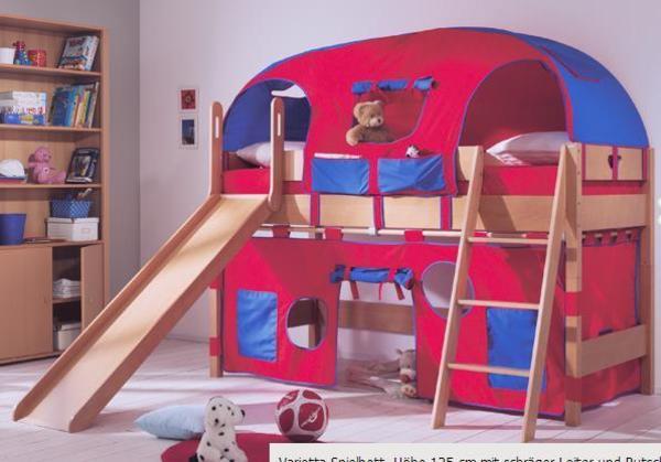 paidi varietta div teile f spielbett 1 25m rutsche. Black Bedroom Furniture Sets. Home Design Ideas