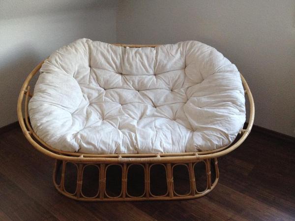 papasan sessel sofa handgefertigt aus rattan wie neu in hofheim sonstige. Black Bedroom Furniture Sets. Home Design Ideas
