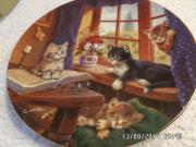 Porzellanteller Katzenmotive