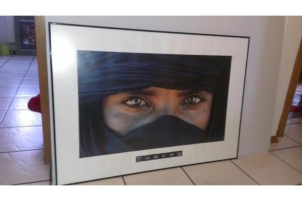 Poster tuareg mit kunst gemälde plastik