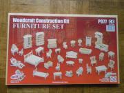 Puppenhausmöbel, 34 Teile