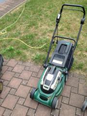 Rasenmäher Elektro - läuft