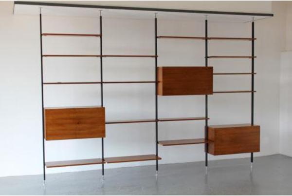 regal system von ulrich p wieser f r wohnbedarf nussbaum 50er 60er in hamburg regale. Black Bedroom Furniture Sets. Home Design Ideas