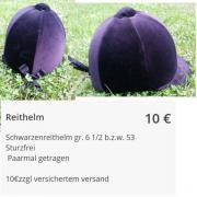 Reithelm zu verkaufen