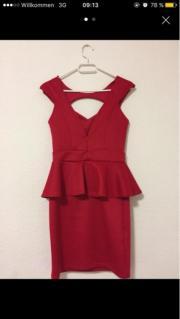rot kurz Kleid