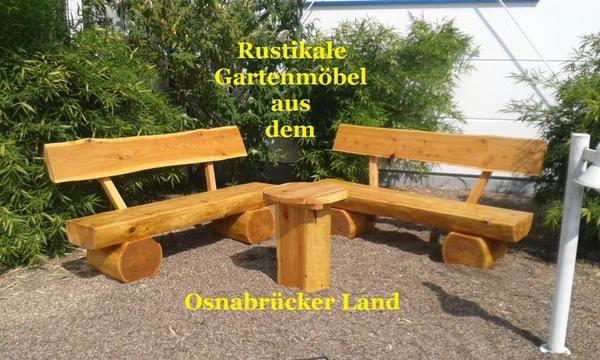 rustikale gartenbank parkbank baumbank gartenm bel massiv l rche 140 cm in bad essen kaufen. Black Bedroom Furniture Sets. Home Design Ideas
