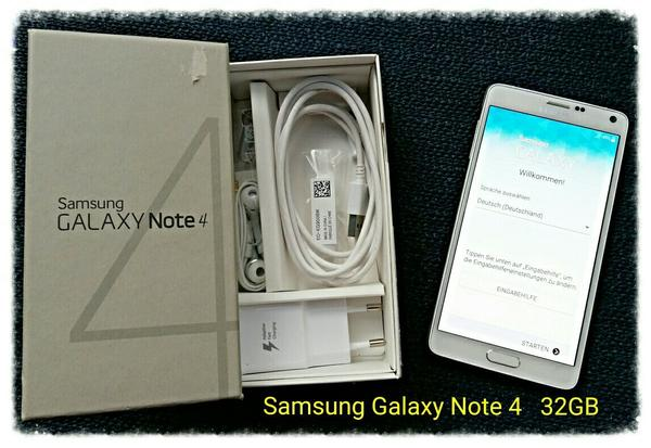 samsung galaxy note 4 white 32gb top zustand in. Black Bedroom Furniture Sets. Home Design Ideas