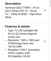 Samsung UE22F5480SS