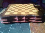 Schachspiel,Handarbeit,Zinnfiguren
