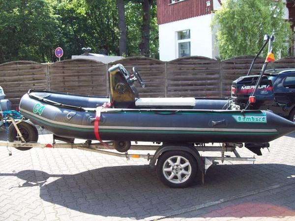 schlauchboot bombard c4 optional mit trailer und 60 ps. Black Bedroom Furniture Sets. Home Design Ideas
