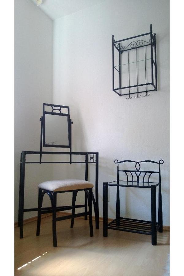 schminktisch hocker nachttisch regal spiegel. Black Bedroom Furniture Sets. Home Design Ideas