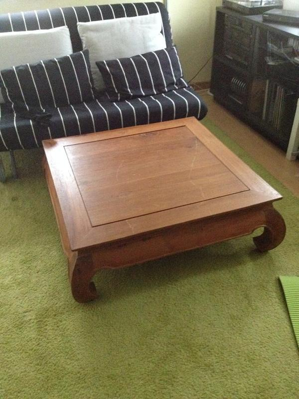 Teakholz tisch kaufen gebraucht und g nstig - Antiker wohnzimmertisch ...