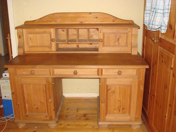 schreibtisch massivholz neu und gebraucht kaufen bei. Black Bedroom Furniture Sets. Home Design Ideas