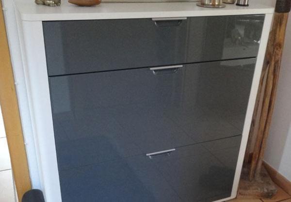 schuhschrank schuhkippschrank wei grau. Black Bedroom Furniture Sets. Home Design Ideas
