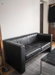 ledersofa schwarz haushalt m bel gebraucht kaufen oder. Black Bedroom Furniture Sets. Home Design Ideas