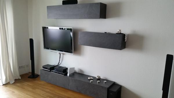 Wohnwand schwebend  Schwebende Wohnwand ~ Innenraum und Möbel