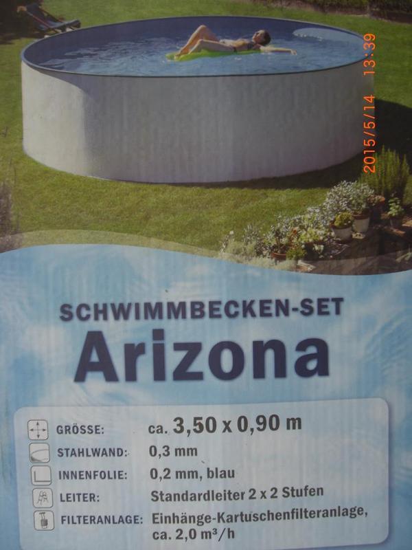 Schwimmbecken stahlwand 3 50x0 90m in bartholom berg for Schwimmbecken stahlwand