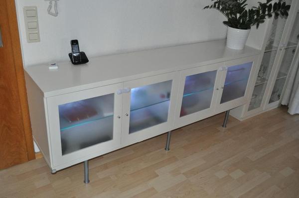 Ikea Pax Schrank Erfahrungen ~ Alte Schubladen Als Wandregal  Sideboard mit 4 Milchglastüren aus