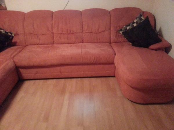 Sofa couch wohnlandschaft u form ottomane in rosenheim for Wohnlandschaft quoka