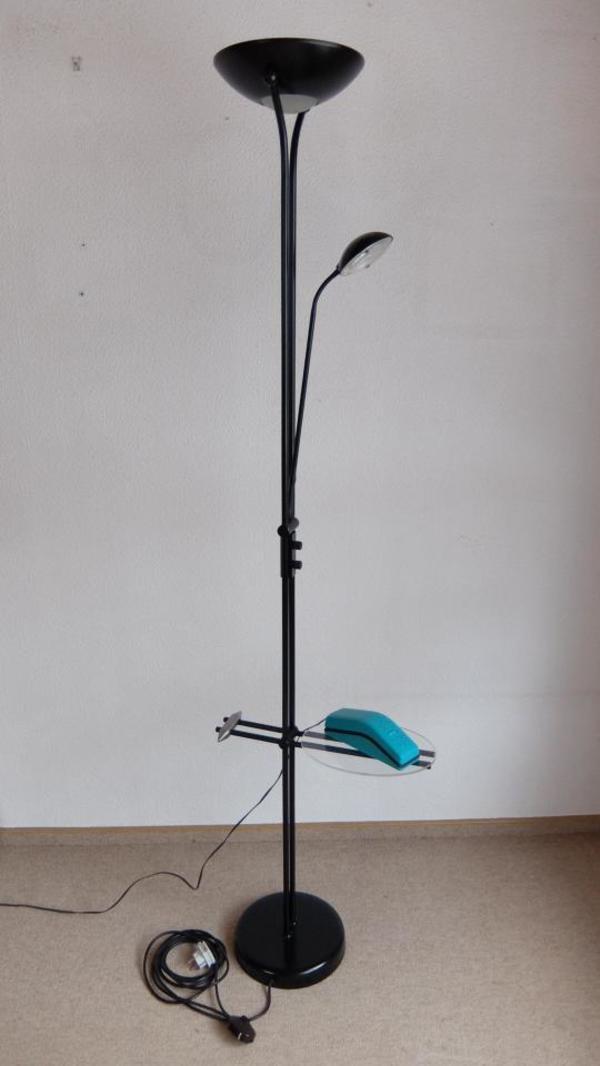 stehlampe schwarz deckenfluter dimmer telefontisch in bobingen lampen kaufen und verkaufen. Black Bedroom Furniture Sets. Home Design Ideas
