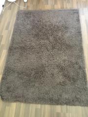 Teppich hochflor braun