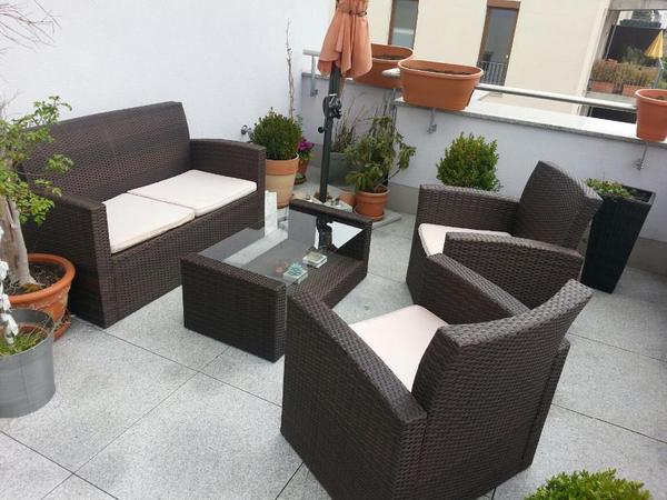 polyrattan neu und gebraucht kaufen bei. Black Bedroom Furniture Sets. Home Design Ideas