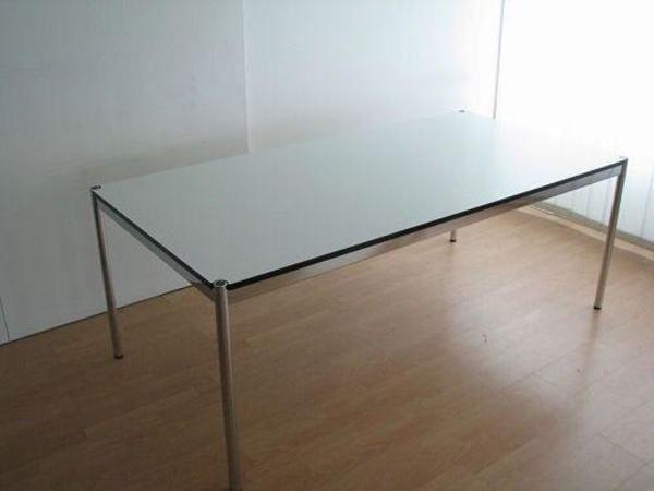 usm haller tisch 75 x 175 cm perlweiss neuwertig in fuchshofen designerm bel klassiker. Black Bedroom Furniture Sets. Home Design Ideas
