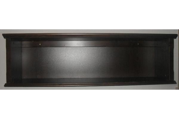 wandregal mark r ikea schwarzbraun antik gebeizt massivholz 134 x 34 5 x 40 cm in sandhausen. Black Bedroom Furniture Sets. Home Design Ideas
