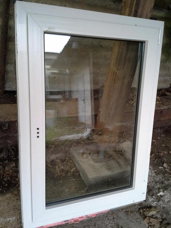 Weru castello kunststofffenster wei grau dkr 885x1240mm for Weru fenster