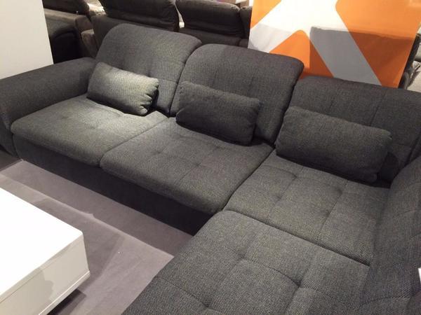 Wohnlandschaft in anthrazit grau schwarz textil neu von for Wohnlandschaft 100 euro