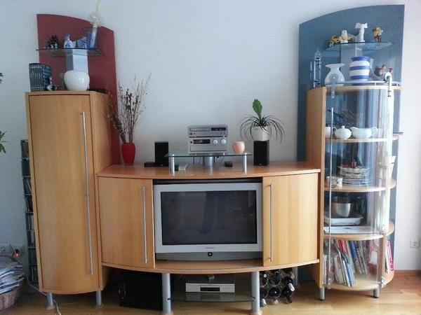wohnzimmerm bel firma jaeger futura inkl grundig tv in. Black Bedroom Furniture Sets. Home Design Ideas