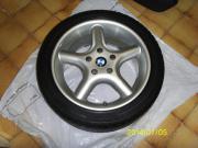1 BMW Alufelge mit Reifen