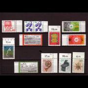 12 postfrische Briefmarken BRD aus
