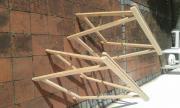 2 einfache Holzböcke