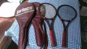 2 Tennisschläger für Liebhaber Prince