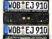 2 VW Kennzeichen Rahmen